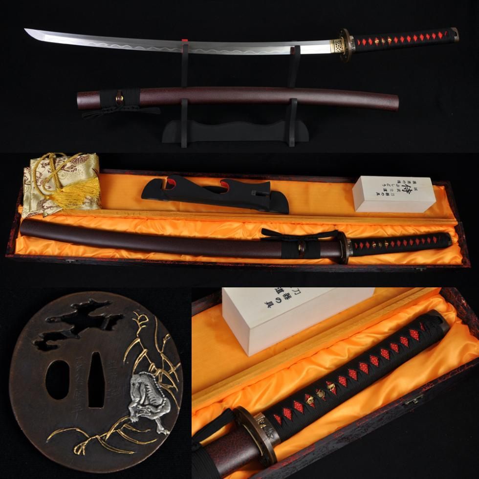 TOP QUALITY JAPANESE SAMURAI WOLF SWORD KATANA KOBUSE CONSTRUCTION BLADE SHARP