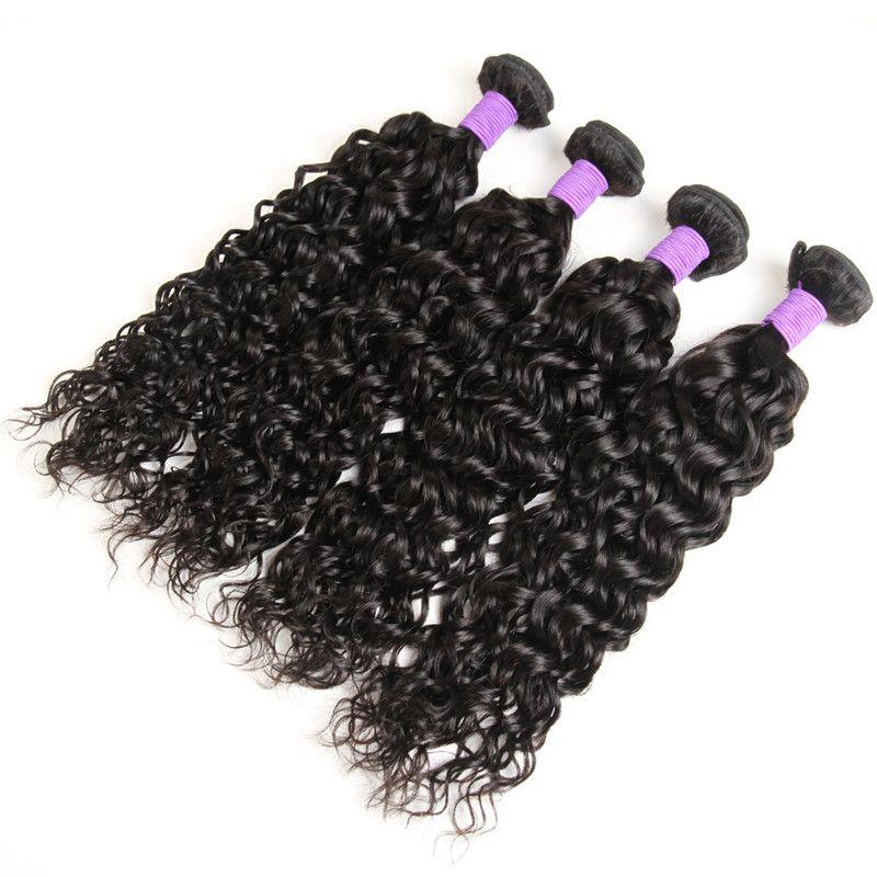 Hot Selling Water Wave 3 Bundles Brazilian Hair Peruvian Natural Wave Malaysian Ocean Wave Indian Wet and Wavy Human Hair Bundle