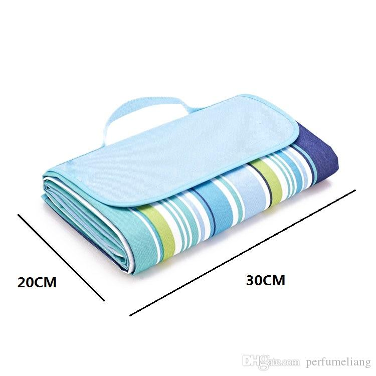 145x180cm Waterproof Outdoor Foldable Picnic Camping Multiplayer Moistureproof Mat Blanket Folding Baby Climb Strip Blanket ZA0932