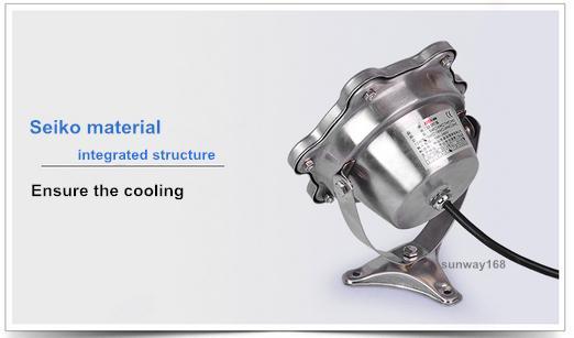 أفضل DC12V أضواء LED تحت الماء 9W 1000LM ماء IP68 سباحة نافورة مصباح RGB / دافئ أبيض / أبيض نقي الفولاذ المقاوم للصدأ 304 مصباح الجسم