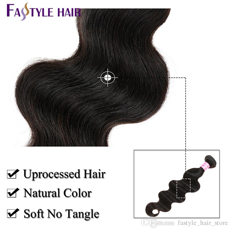 Brazilian Human Hair Weave Bundles With Frontal Unprocessed Virgin Body Wave 3 Bundles With Lace Frontal Remy Hair Extensions