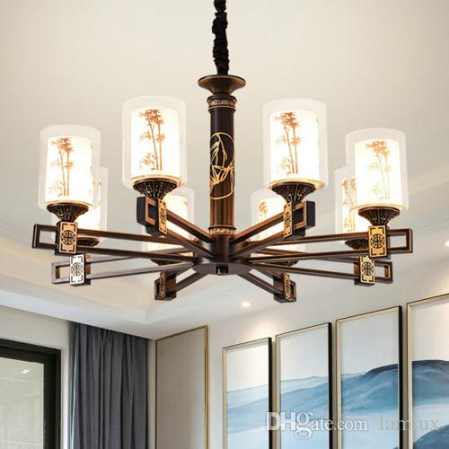 Chinese style led chandelier lights lantern bamboo design chinese style led chandelier lights lantern bamboo design chinoiserie personalized classic decorative led chandeliers lighting pendant lamps rope chandelier aloadofball