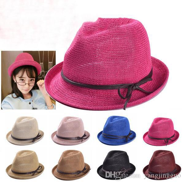 2016 Limited Stingy Brim Hat Multi Tie-dyeing New Hat Female Summer And Fall Han Edition British Tide Flat Brim Sunshade Sir Bowknot Straw