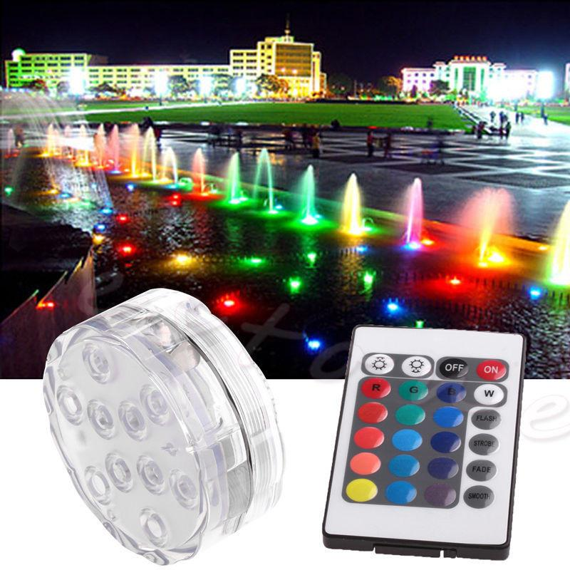 Submersible Led Light Rgb Multicolors Waterproof Light Remote