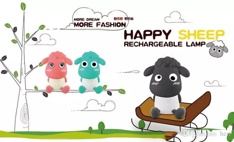 cartoon new Rechargeable USB Desk Lamp Cute Sheep Dimmable Table Light For Living Room Computer Creative Birthday Gifts For Girlfriend Child