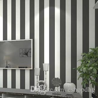 Acquista rotolo di carta da parati moderna grigio e bianco for Rotolo carta parati