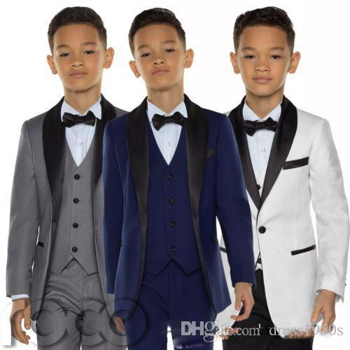 2018 Cheap Boys Tuxedo Boys Dinner Suits Boys Formal Suits Tuxedo for Kids Tuxedo