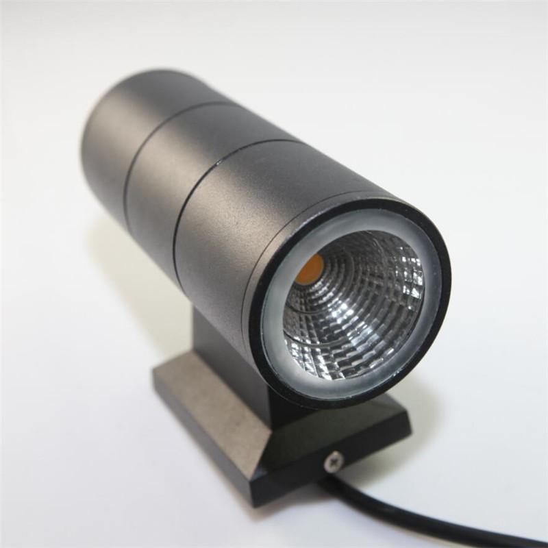 LED Außenwandleuchte 2 * 7W LED Wandleuchten Wasserdichte Moderne 2ST COB Chip Warm White Double Up-Down-Wandhalterung Licht Wechselstrom-85-265V