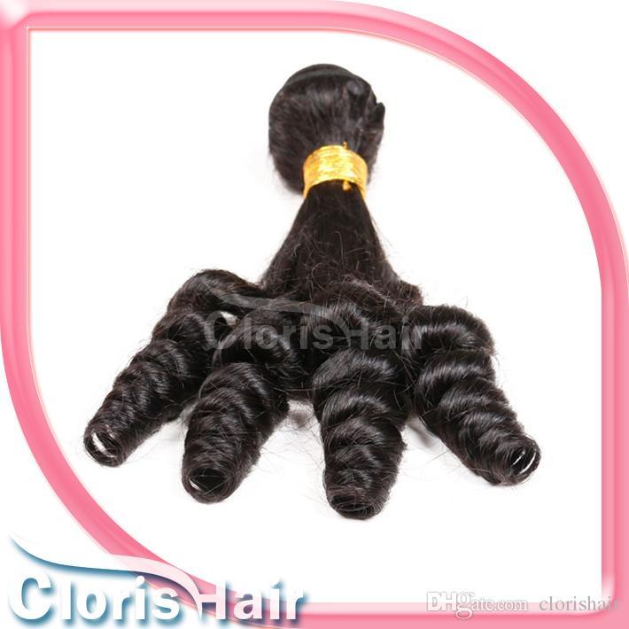 Neue Mode Tante Funmi Rohes Indisches Haar Unverarbeitete Hüpf Spirale Romantik Locken 100% Menschliche Haarwebart Großhandel 3 Bundles