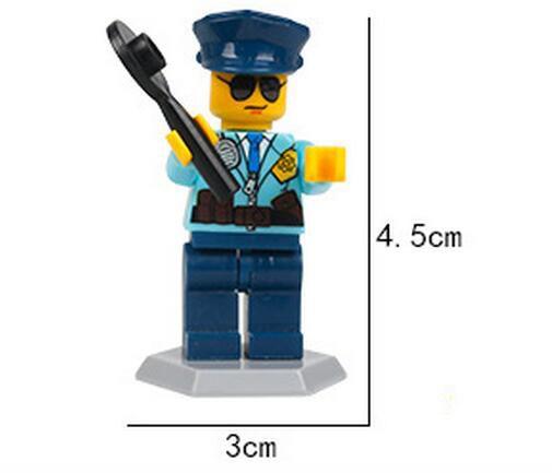 8 шт. лот дети строительные блоки кирпичи мини мультфильм городской техники человек цифры куклы игрушки дети подарок головоломки игрушки