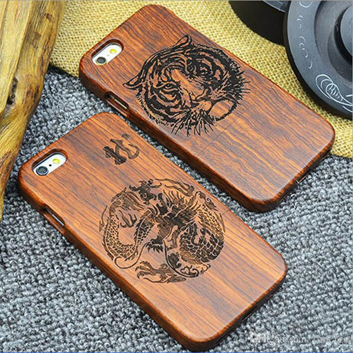 High-End Luxury Custom Real Wood Mobile Phone Cover Case for iPhone 6/6s Bamboo Blank Cell Phone Case