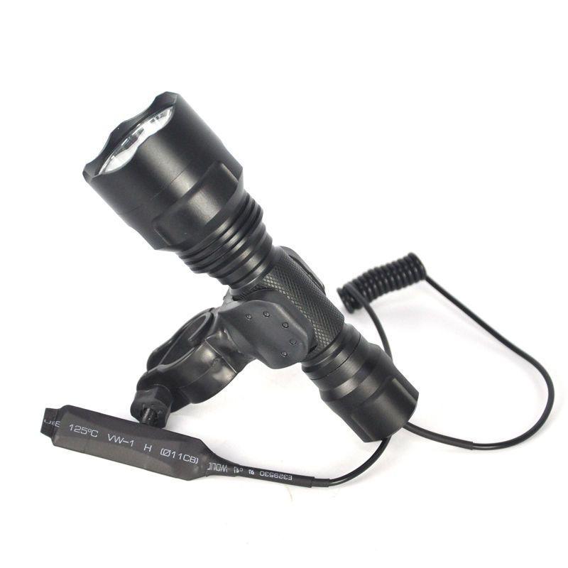 2500Lm XM-T6 LED 501B Linterna Táctica Antorcha Lámpara Potente Brillante Letreros de Neón Interruptor de Presión de la Antorcha Monte la Pistola de Luz