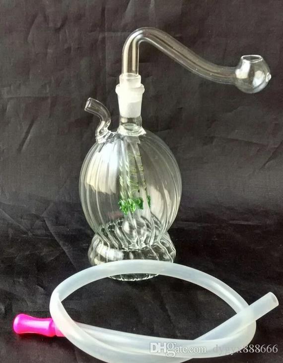 Groothandel gratis verzending ----- 2016 Nieuwe Hookah Polygonal Glass / Glass Bong / Glass Pipe, cadeau-accessoires, kleur Willekeurige levering