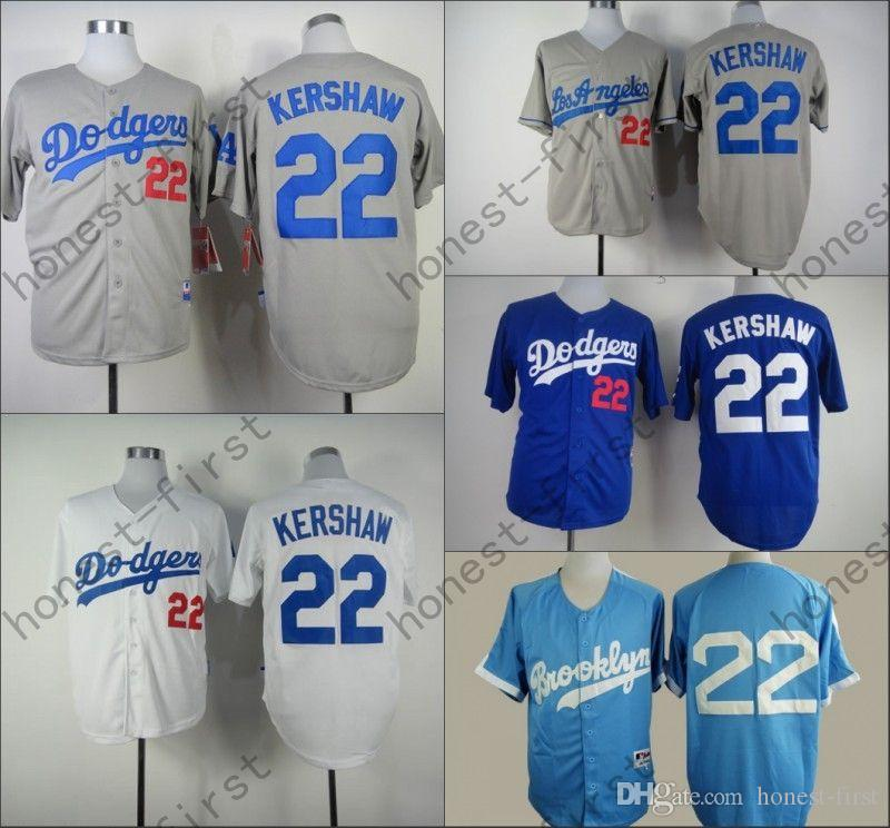 pretty nice d4a0e bb565 los angeles dodgers 22 clayton kershaw white 50th jersey