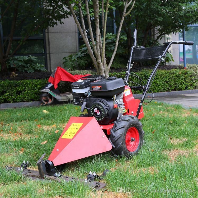 7.5hp push type wheat cutting machine rice paddy cutting machine wheat cutter crop rice reaper harvester lawn mower grass cutter