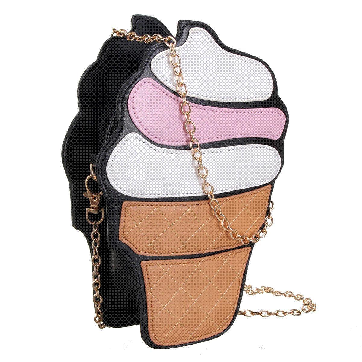 0e009f6c071e New Cute Women Cupcake Ice Cream Shape Crossbody Bags Cartoon Fashion Chain  PU Leather Ladies Small Mini Shoulder Bag Feminine Relic Purses Fashion  Bags ...