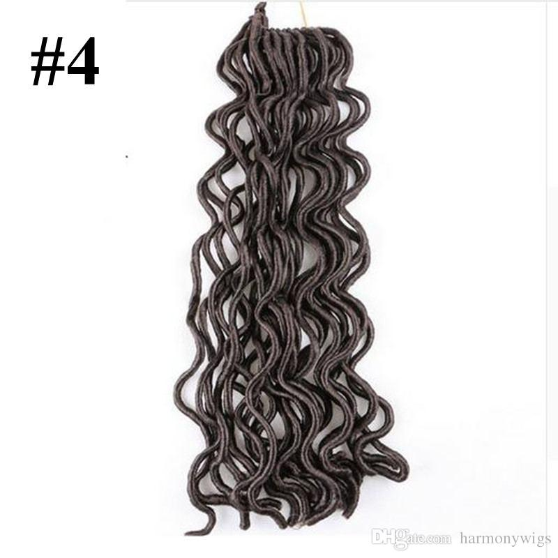 Synthetic Faux Locs Brading Hair Crochet Braids Twist Curly 18inch 24strands Bulk Synthetic Hair Extensons more colors