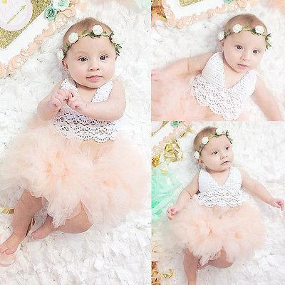 Wholesale Summer Dress Newborn Baby Girl Dress Tulle Tutu Bodysuit