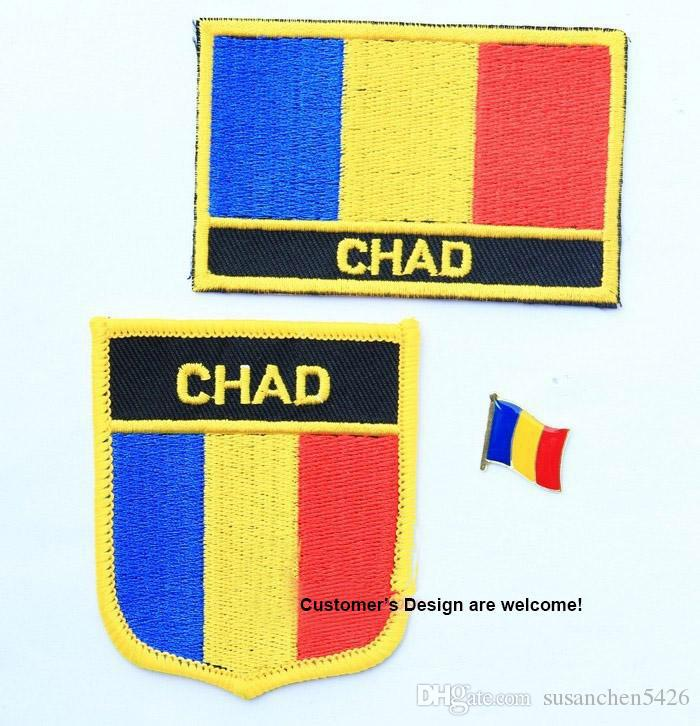 Chad Flag Embroidery Iron On PatchFlag Badge From - Chad flag