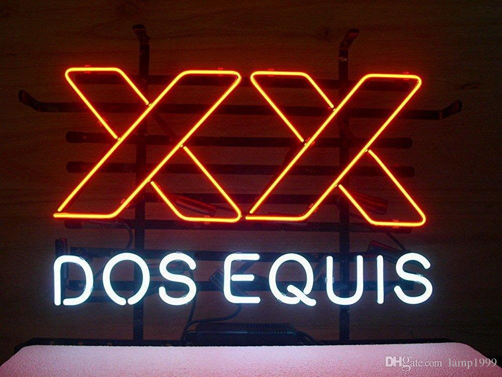 Brand New Dos Equis XX Real Glass Neon Sign Beer Light 20X16 Dos ...