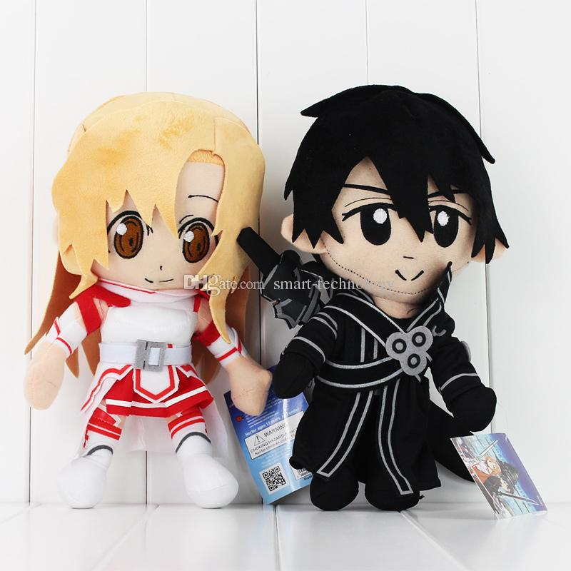 Anime Sword Art Online Asuna & Krito Plush Soft Stuffed Doll Toy for kids gift EMS