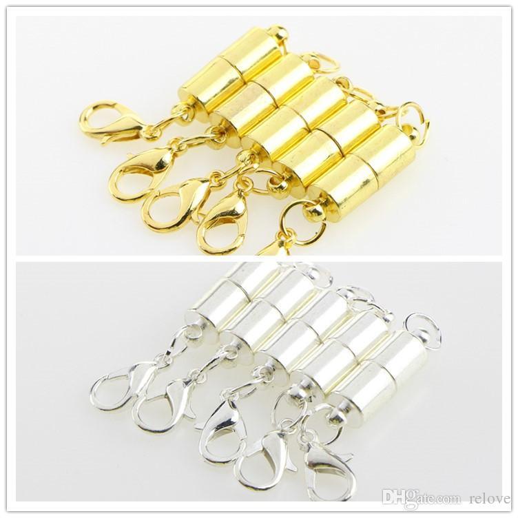 Magnetische Verschlüsse mit Karabinerverschlüssen für Accessoires Silber