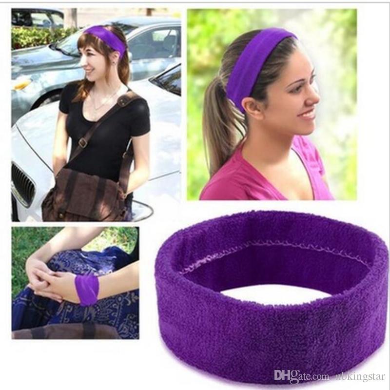 ab2906bdedb9 Candy Color Fashion Women Men Yoga Sport Haird Bands Simple Hairband ...