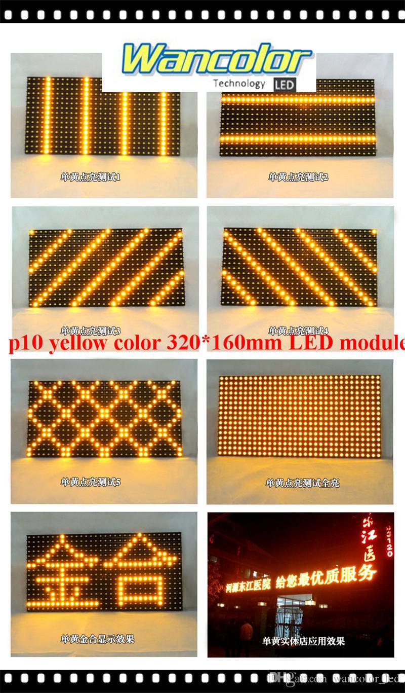 freies Verschiffen p10 im Freien LED, das gelbes Farbe p10 Anzeigemodul der Anzeige 2 + Stromversorgung + wifi / usb-Prüfer blättert