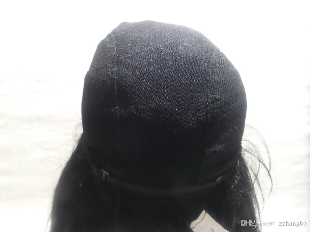 Cheia Do Laço Peruca de Cabelo Longo Peruca Reta De Seda Coruja Do Sexo Feminino Feminino Preto Densidade Do Weave 150 Notre Dame Com o Brasil, tecer Uma Peruca Com O Cabelo Do Bebê