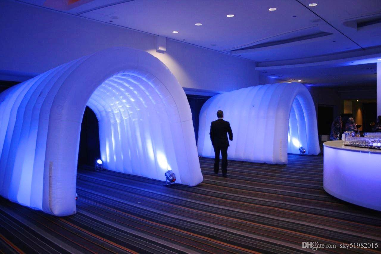 2018 Inflatable Tunnel Entrance With Led Light For Event