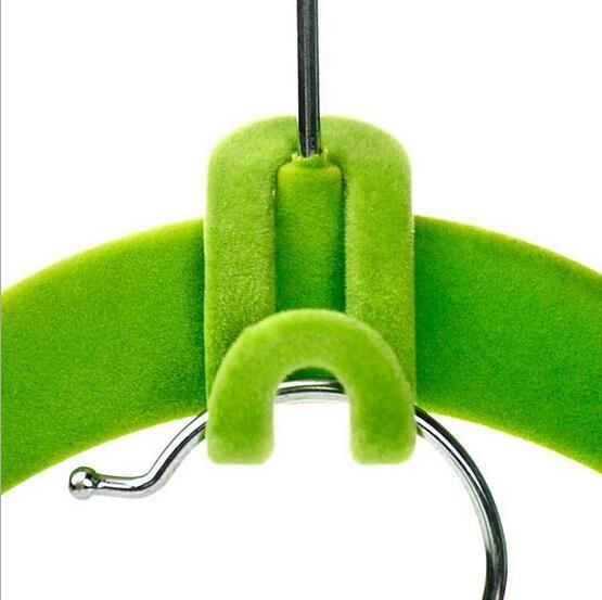 Home Creative Mini Flocking Clothes Hanger Easy Hook Closet Organizer