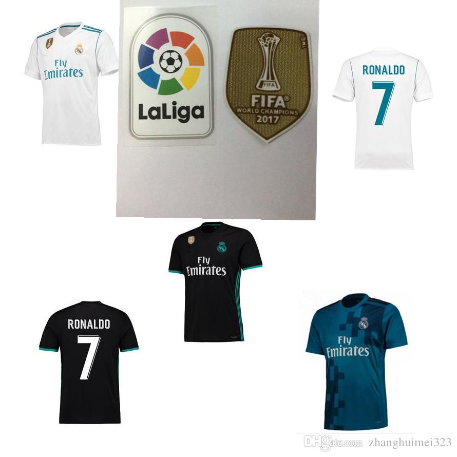 ... 2017 Real Madrid home away jersey 2018 Ronaldo Soccer jersey MODRIC  LUCAS V MORATA BALE KROOS ... cc1090962