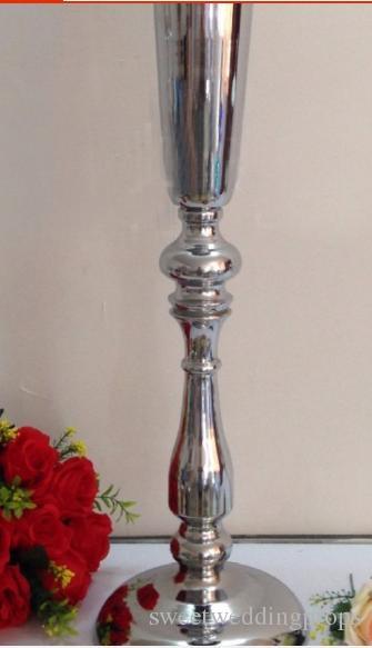 50 cm H Gümüş Düğün Çiçek Vazo Masa Centerpiece 10 adet / grup