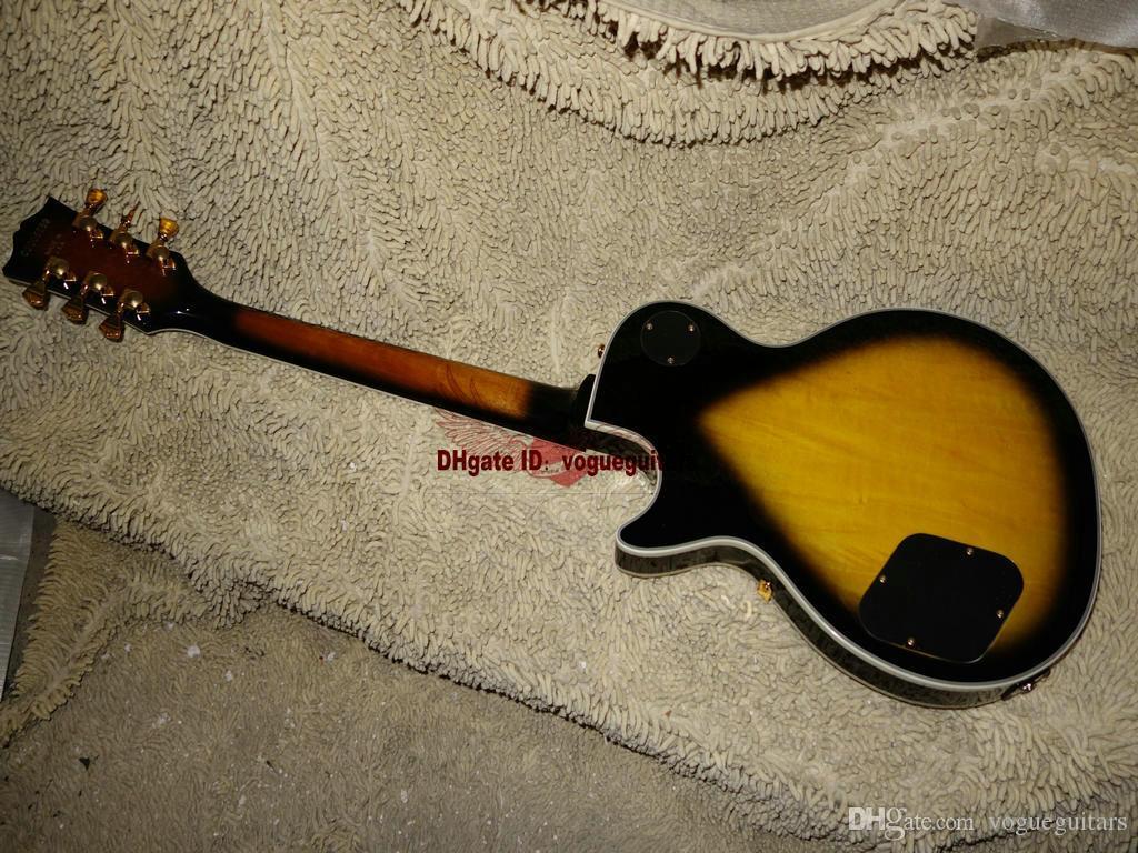 Groothandel gitaren nieuwe collectie geel zwart aangepaste elektrische gitaar hoge kwaliteit groothandel gitaren OEM goedkoop