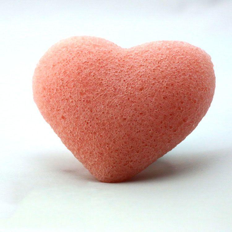 Sponga del viso del viso del viso del viso di konjac a forma di cuore carino a forma di cuore bambini e pelle sensibile