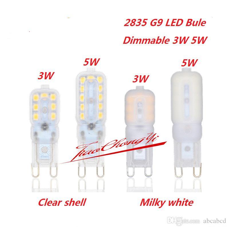 Envío gratis regulable 3W 5W G9 2835 220 V fresco blanco cálido blanco 14led 22led lámpara bombilla LED luz