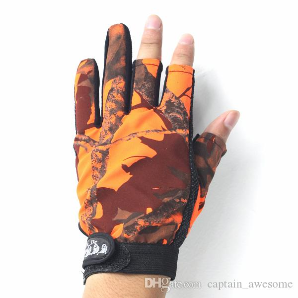3 Cut Finger Fishing Fish Gloves Camouflage Anti-slip Gloves Hunting Shooting for choose New