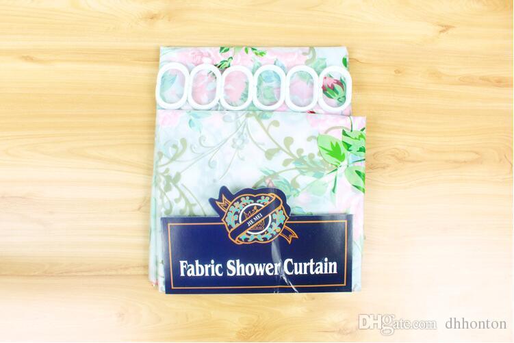 Baskı daha düz EVA su geçirmez mouldproof banyo duş perdesi otel banyo duş perdesi 180 * 180 cm ücretsiz kargo HK70