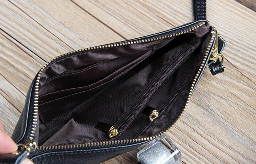 Brand Genuine Leather Clutch Wallet Wristlet Lady Purse Handbag Womens Wallets Long Wallet Women Coin Purses Clutch Bags for Cards Cellphone