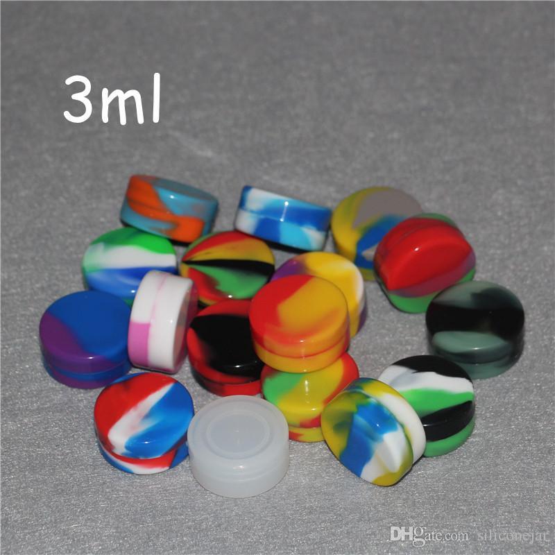 Contenitori in silicone all'ingrosso cere alimentari Vasi silicone di grado 1,5 ml 3ml 5ml 7ml 6 ml casse del silicone 10ml 22ml IN E Cigarettes