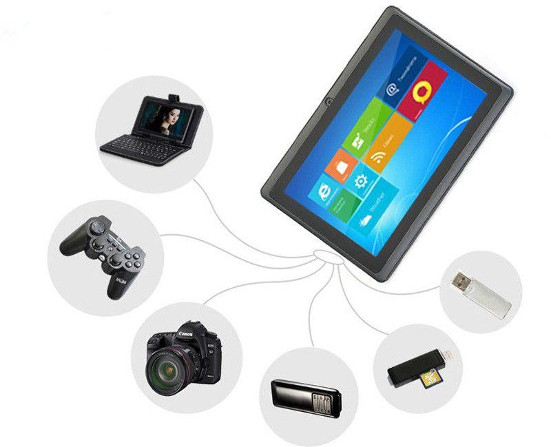 Q88 7 Polegada comprimidos baratos Tablet PC Android 4.4 phable ALLwinner A33 Quade Núcleo comprimidos Dual Camera 8 GB 512 MB wifi Capacitivo bluetooth