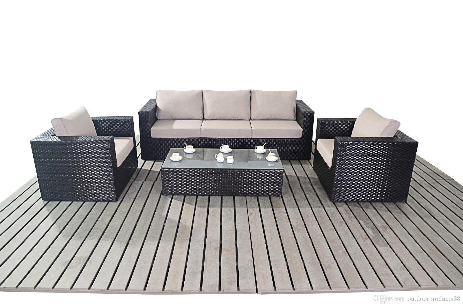 2018 rattan wicker chair sofa table combinationpatio balcony rattan wicker table and chairoutdoor rattan sofa set garden furniturerattan sofa from
