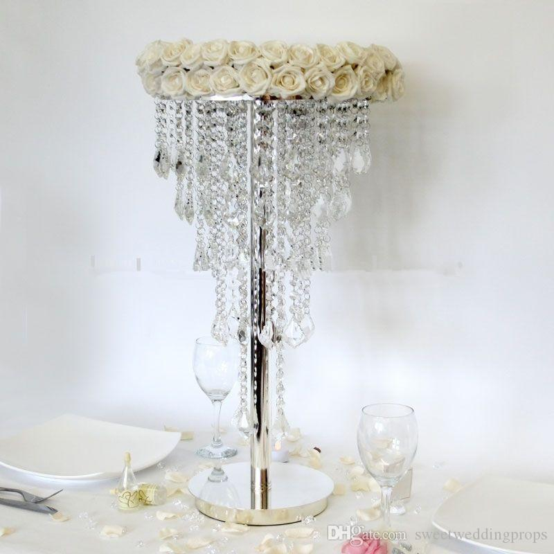best selling acrylic table top chandelier centerpieces