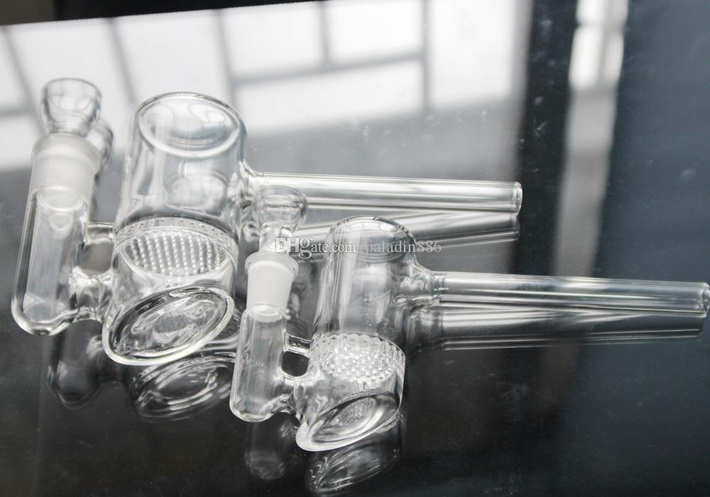 14mm 19mm 2 modèles Glass Bubbler Nid d'abeille Perc Glass Hammer Huile Rigs de verre Bangs Verre Water Pipes En stock