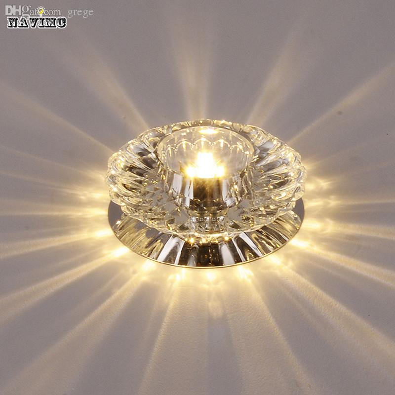 Wholesale-Corridor Mirror Ceiling Lamp Aisle Veranda Lighting Down Crystal Mordern Surface Mounted LED Ceiling Lights For Living Room