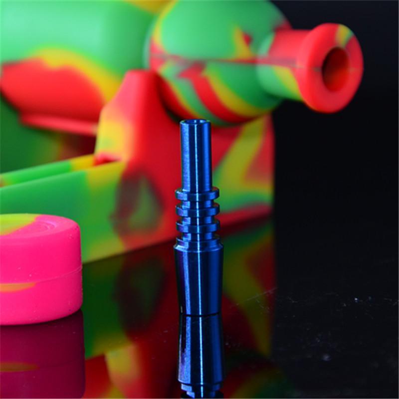 LIVRAISON GRATUITE, Nectar Collector 2.0 Kit avec bol en silicone courbé GR 2 Titane NailS Honey Straw silicone et titane Nail, laser votre logo gratuit