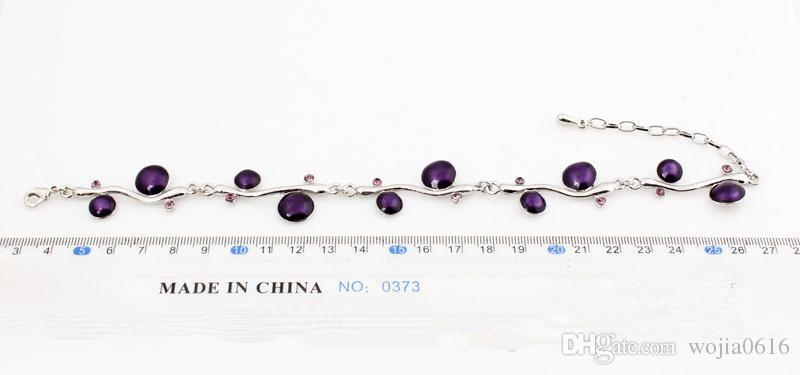 送料無料新しいファッション最高品質ラウンドエナメルブレスレット合金ビンテージチェーンブレスレットファッションジュエリー卸売S114