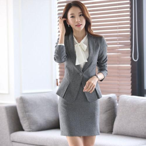 2018 office uniform designs women suit with skirt for business work