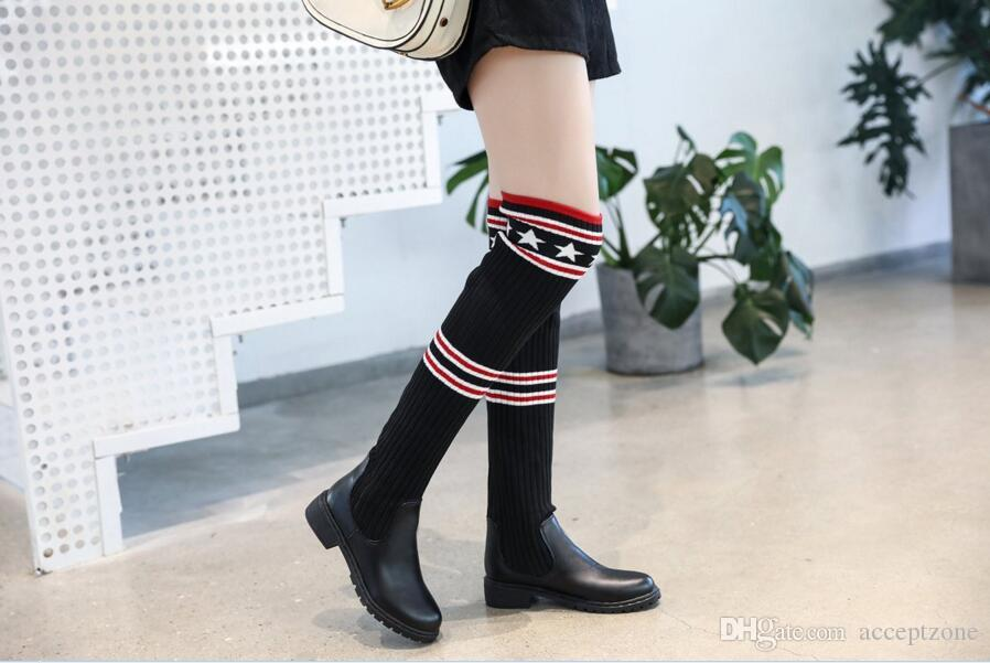 Women S Boots Stretch Tall Boots Sexy Women Thigh High Boots Ladies High  Heels Over The Knee High Long Shoes College Style Heels Boot From  Acceptzone d3cea2a67d