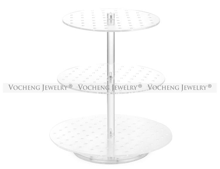 As exposições transparentes destacáveis redondas destacáveis de três camadas de VOCHENG estão para encantos instantâneos NN-476